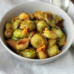 Vegetarian Christmas – Roasted Brussels Sprouts with Orange Juice & Zest