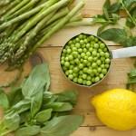Green Asparagus And Pea Ricotta Pesto Spagetthi