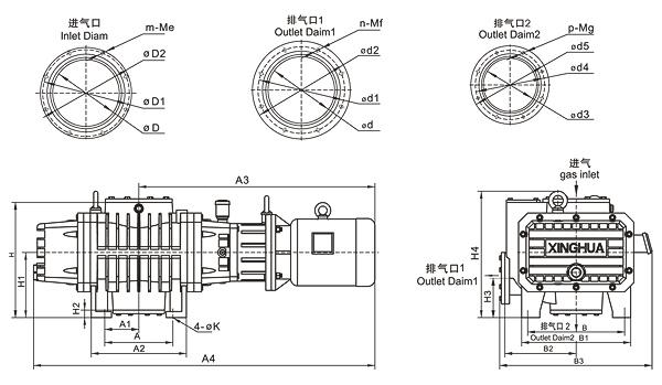 ZJP70A series mechanical roots vacuum pump for sale,Vacuum
