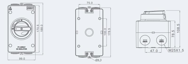 DC Isolator Switch,DC Isolator Switch 1200V,Zhejiang Benyi