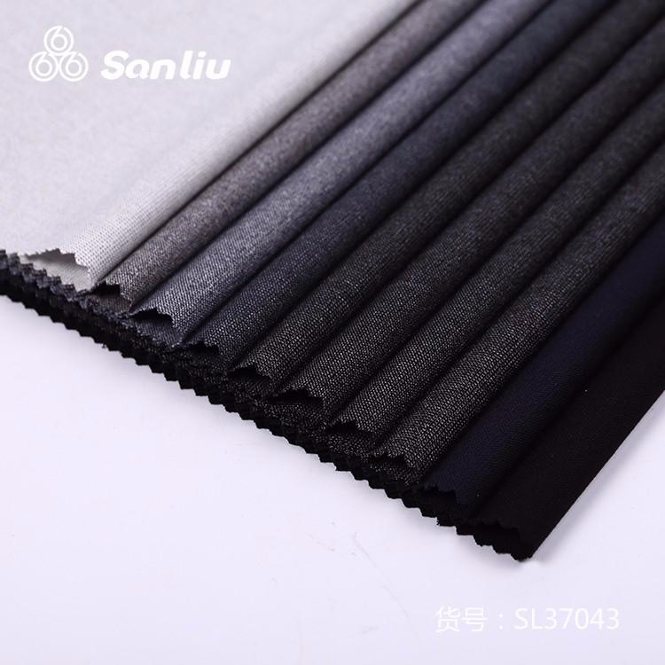 Fashion viscose elastane uniform fabric cationic polyester and rayon four-way spandex SL37043-Sanliu