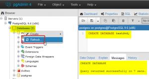 2017-01-16-003-pgAdmin4-PostgreSQL-Create-Additional-Database-Query-Tool-Success