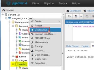 how to delete database in sql