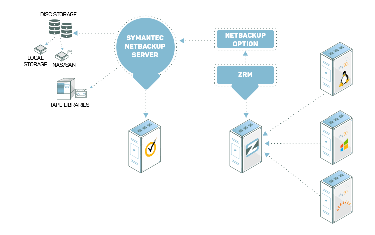 NetBackup 옵션