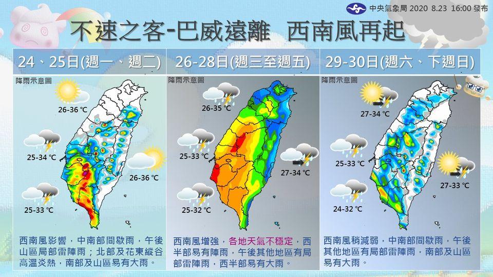 先別收傘! 西南風增強「週三起全臺有雨」 週末好天氣「不能掉以輕心」:新颱隨時成型 - 智活 Smarter Life