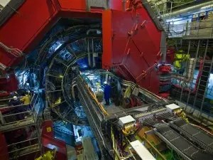The ALICE heavy-ion experiment at CERN. (c) CERN