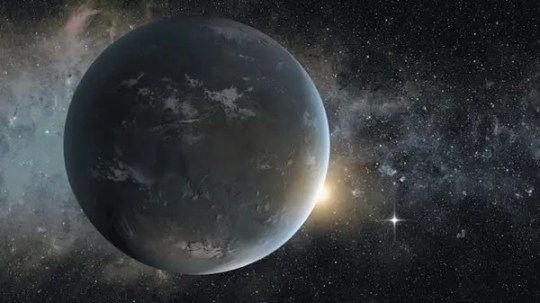 An artist's impression of a sunrise on Kepler 62f. (c) American Association for the Advancement of Science