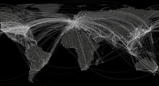 Airport map. (c) Dirk Brockmann