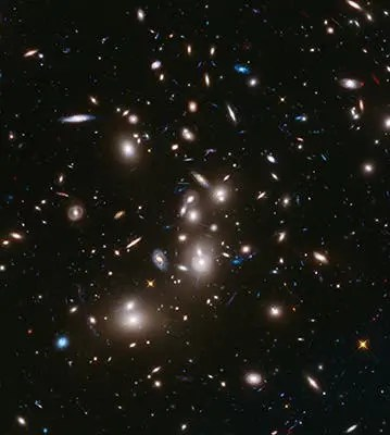 Abell 2744, Pandora's Cluster. Photo: : NASA, ESA, and J. Lotz, M. Mountain, A. Koekemoer, and the HFF Team