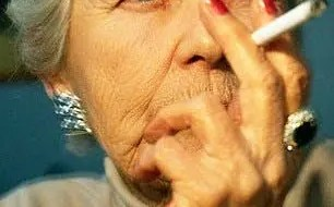 Smoking grandmother