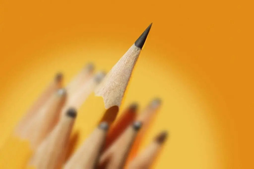 very sharp pencil
