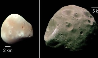 Mars' moons: Deimos (left) and Phobos (right). Credit: JPL-CALTECH/NASA
