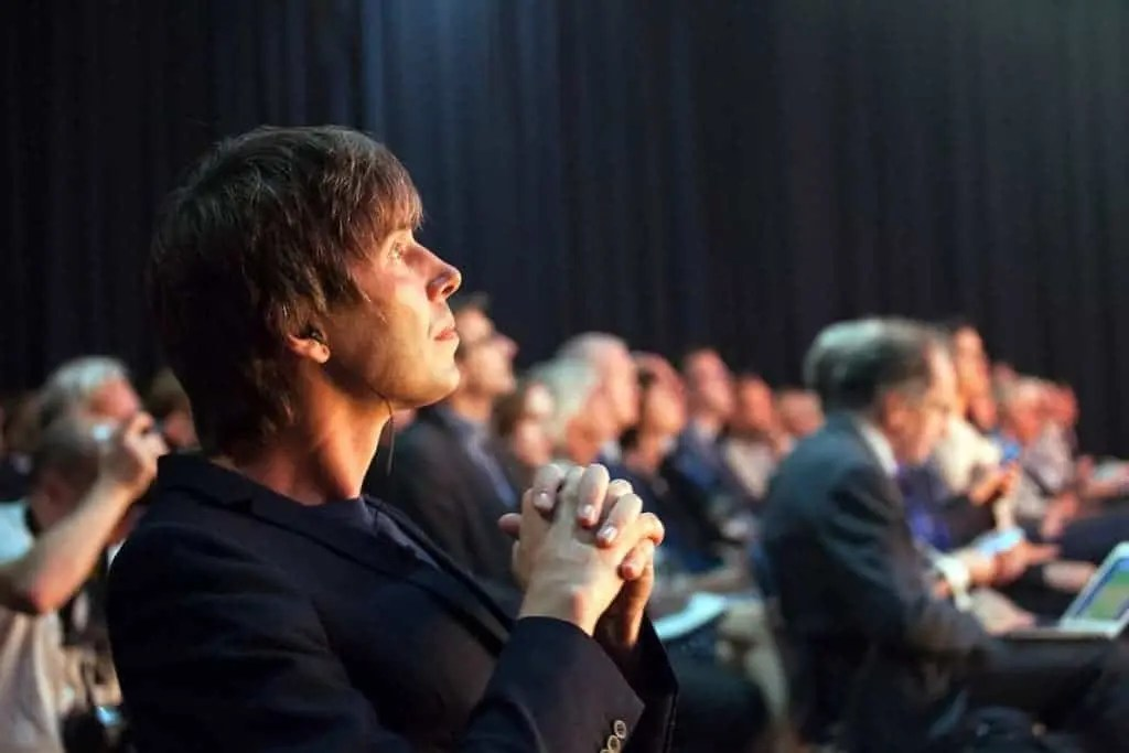Brian Cox and the ESOF audience at the conference's opening ceremony. Copyright © Enna Bartlett 2016