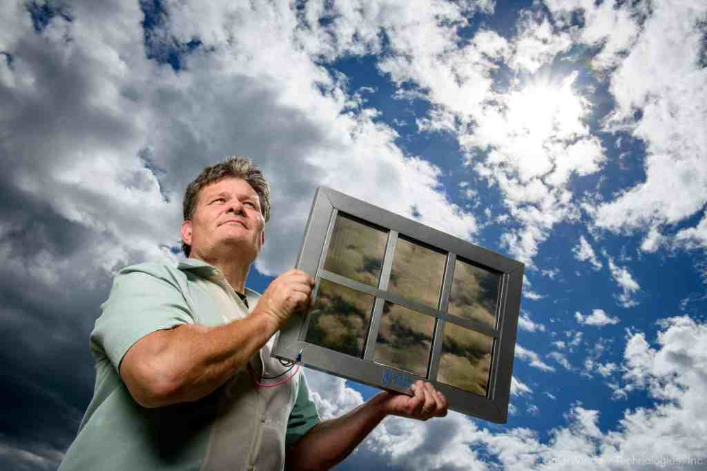 This is John. Image credits SolarWindow.