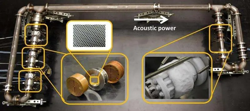 The double loop travelling wave thermoacoustic refrigerator (TWTR). Credit: Tokai University.