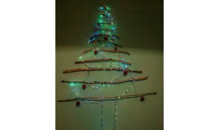 The Christmas tree we made at the ZME Science headquarters last year. Credit: ZME Science.