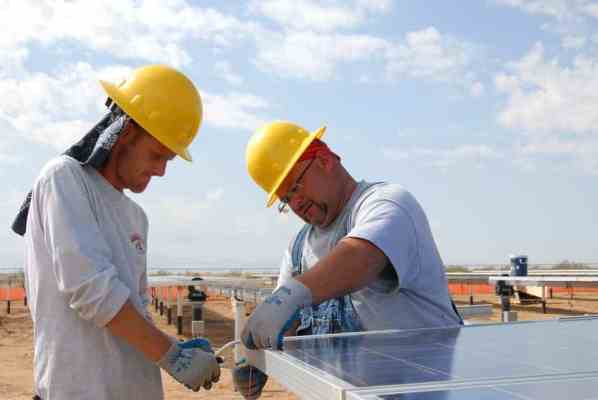 Solar Panel Workers.