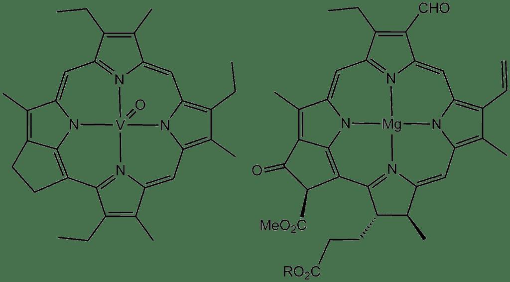 Chlorophyll V-porphyrin.