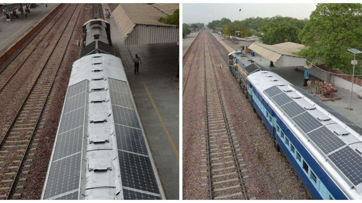 New Delhi Rolls Out India's First Solar-Powered Train-Carriages