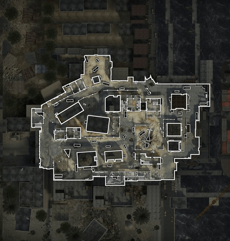 In-game overlaid map from Call of Duty. A new study found such approaches are turning gamers into responsive spatial learners. This is associated with less gray matter in the hippocampus. Credit: Wikia.