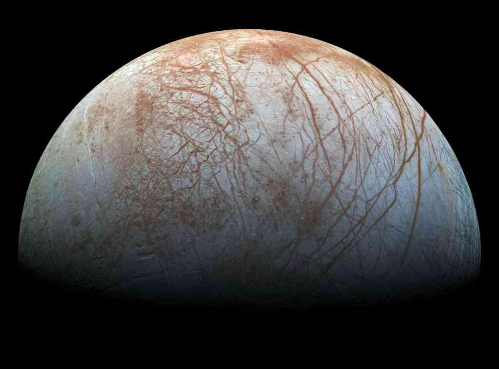 Jupiter's icy moon Europa. Credit: NASA.