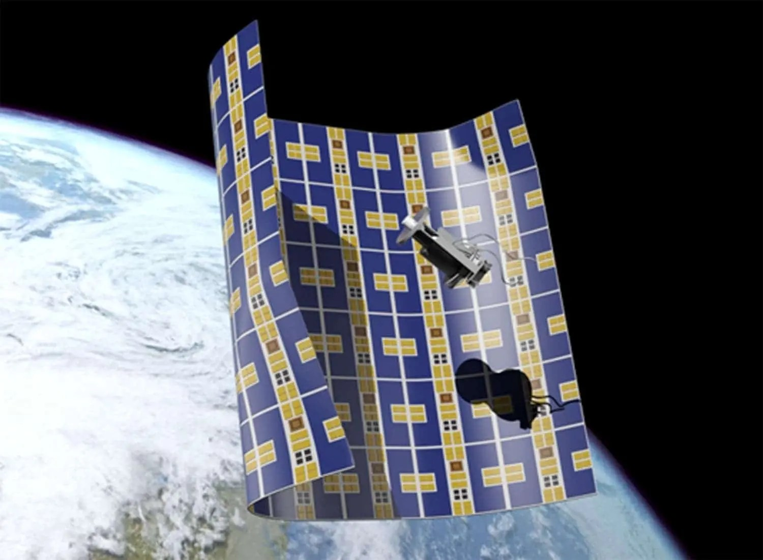 Ultra-thin craft to wrap space debris