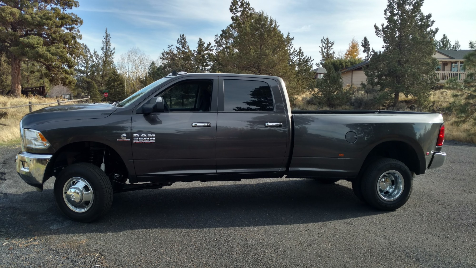 hight resolution of brand new dodge 3500 dually with thurenfab leveling coils and shocks