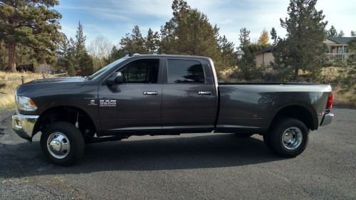 small resolution of brand new dodge 3500 dually with thurenfab leveling coils and shocks
