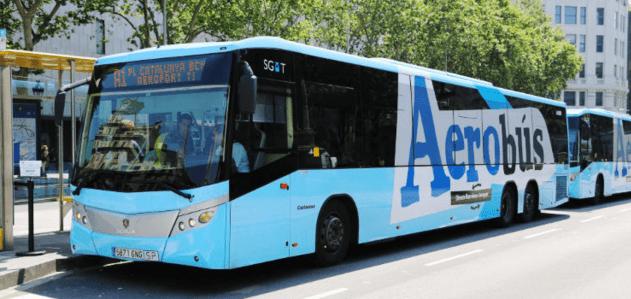 Transport z lotniska El Prat w Barcelonie - Aerobus