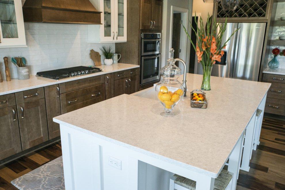 kitchen island countertops unfinished cabinet doors home depot - corian® quartz