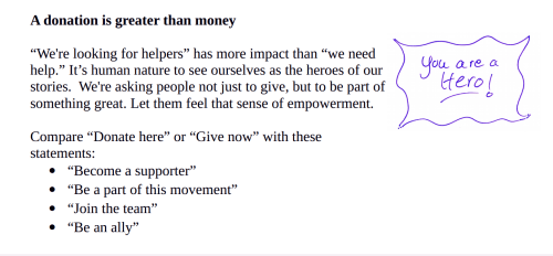 A donation is more than money
