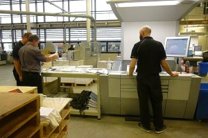 Ben, Steve and Steve in the printing area.