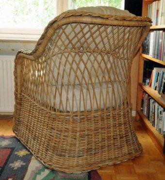 meubelen  4 rieten zetels te koop goede staat