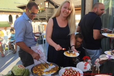 Galavorspeisenbuffet auf der Terrasse