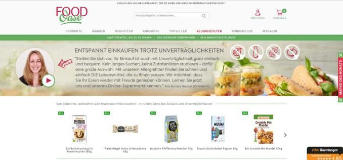 FoodOase OnlineShop für Allergiker