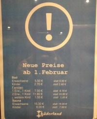 Bderland erhht die Preise fr Schwimmbder in Hamburg.