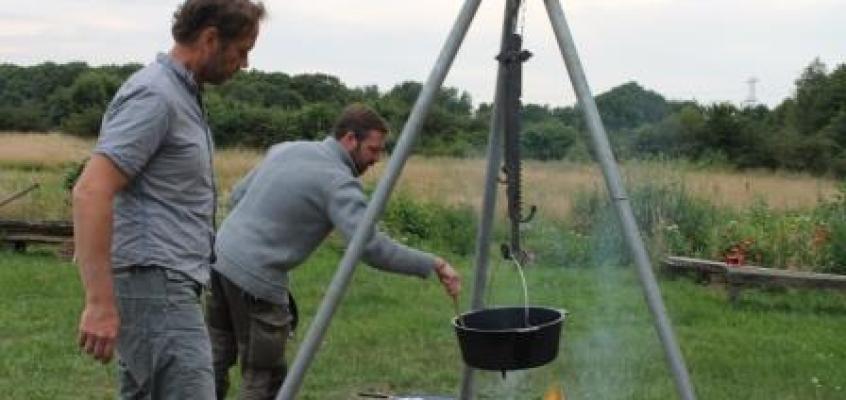 Koken op het Kampvuur