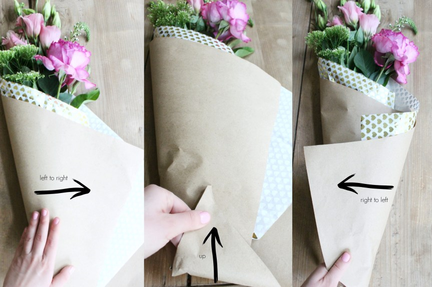 how to fold a paper flower bouquet