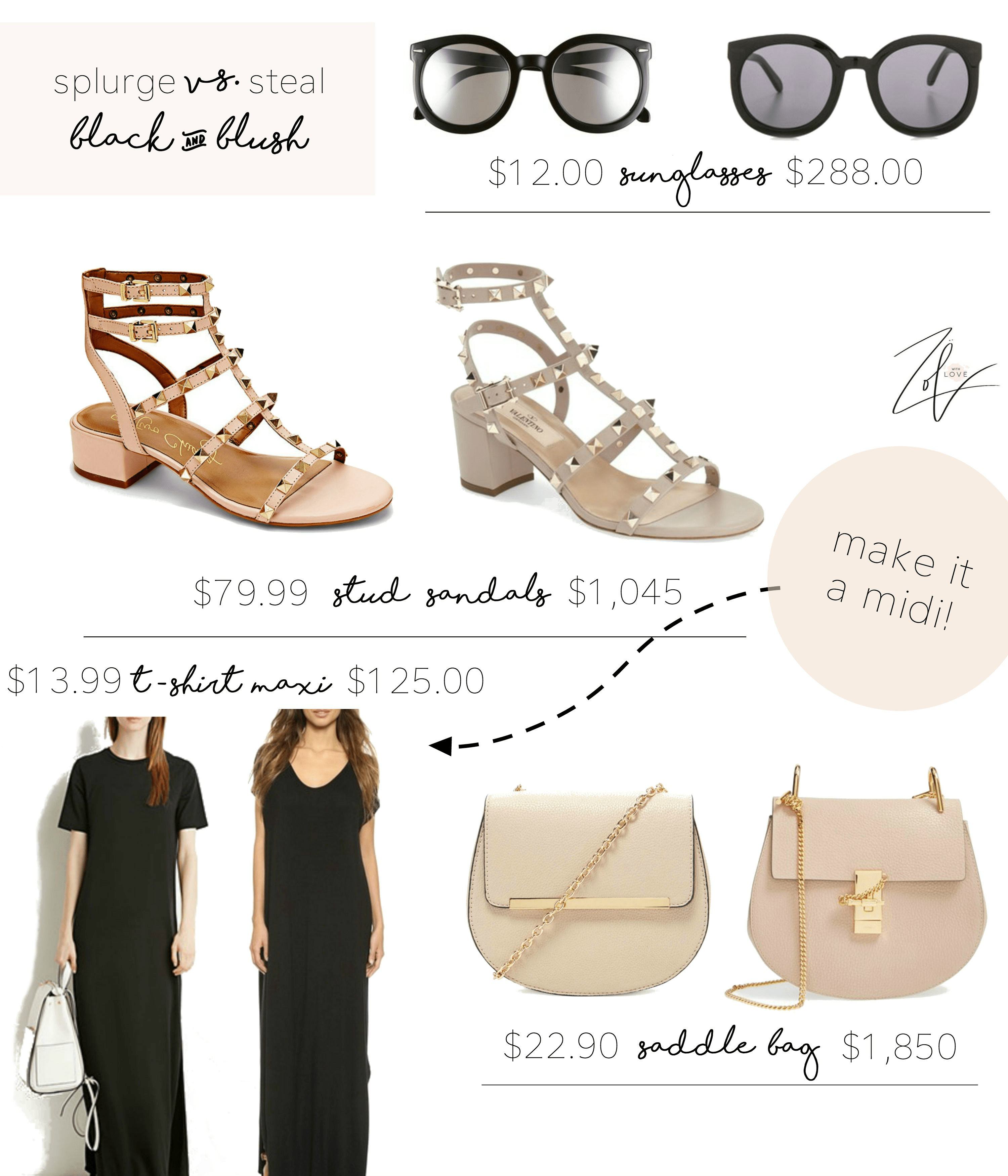 f35725328d7 Splurge vs. Steal: Black & Blush - Zoe With Love