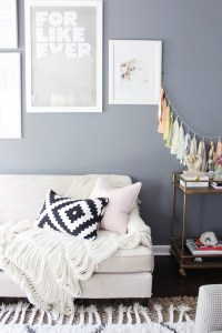 Living Room Decor using Gray and Pink - Zoe With Love