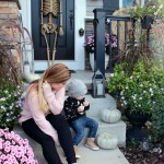 Fall Front Porch Decorating with Unexpected Colors