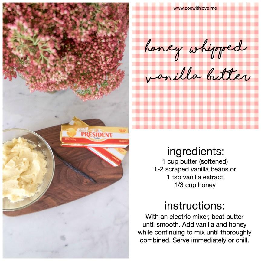 honey whipped vanilla butter recipe