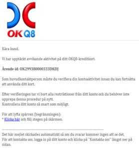 falskt mail om okq8