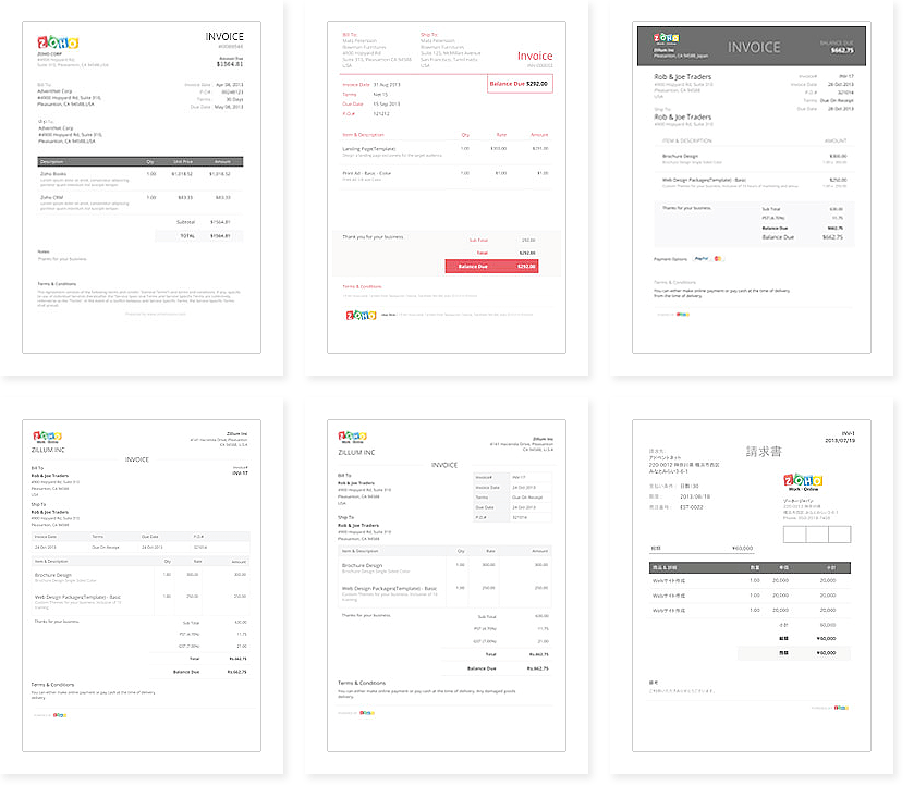 invoice template zoho Eliminate Your Fears And Doubts