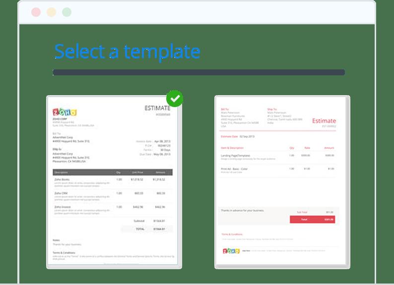 invoice estimate template