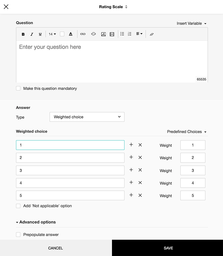 How to add and edit Rating Scale Questions on Zoho Survey?