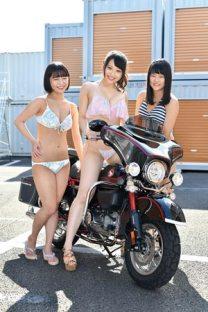 仮面女子とバイク MON×DAVI・瀬口こころ・綾瀬ももな・山宮れな