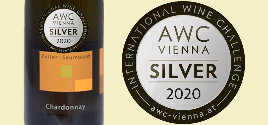 Chardonnay 2019 mit der AWC-Silberplakette