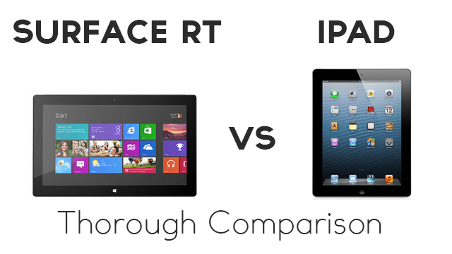 surface rt vs ipad thorough comparison zollotech. Black Bedroom Furniture Sets. Home Design Ideas