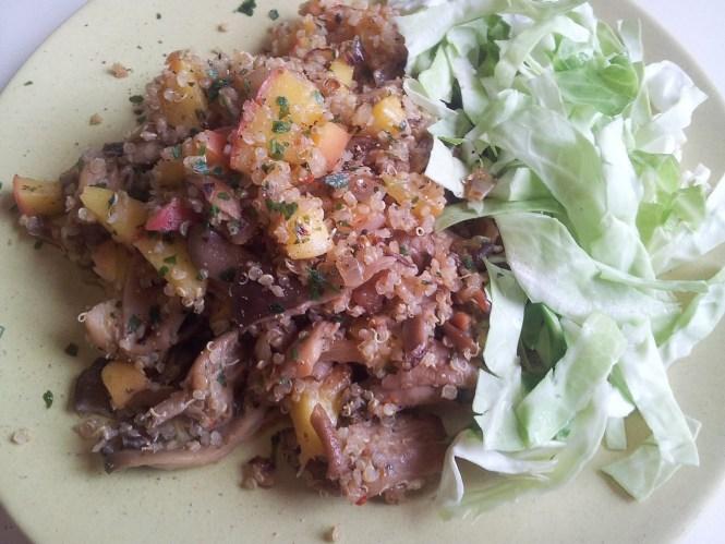 quinoa met oesterzwammen